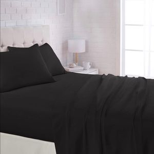 Twin Sized Black Bed Sheets
